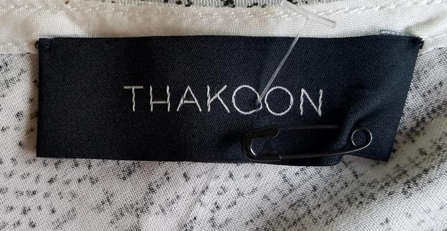 Thakoon Draped Black & Print Rope Top White