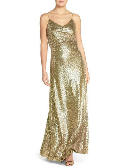 Item - Gold Sequin 'jules' Formal Bridesmaid/Mob Dress Size 8 (M)