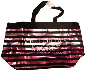 Victoria's Secret Tote in Black and Pink