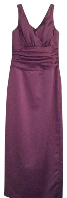 Item - Lavender Sleeveless Satin Gown Long Formal Dress Size 8 (M)