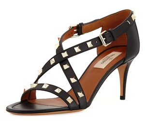 Valentino Rockstud Studded Stiletto Crisscross Strap black Pumps