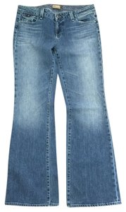 Paige Premium Denim Trouser/Wide Leg Jeans-Light Wash