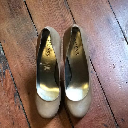 Guess Nude Platform New Leather Tan Pumps