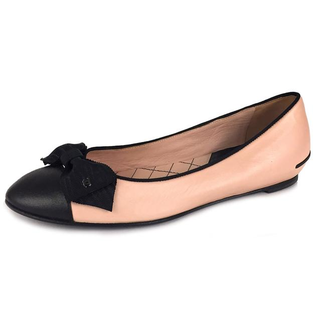 Item - Black / Pink Italy Two Tone Bow Ballet Leather Flats Size EU 40 (Approx. US 10) Narrow (Aa, N)