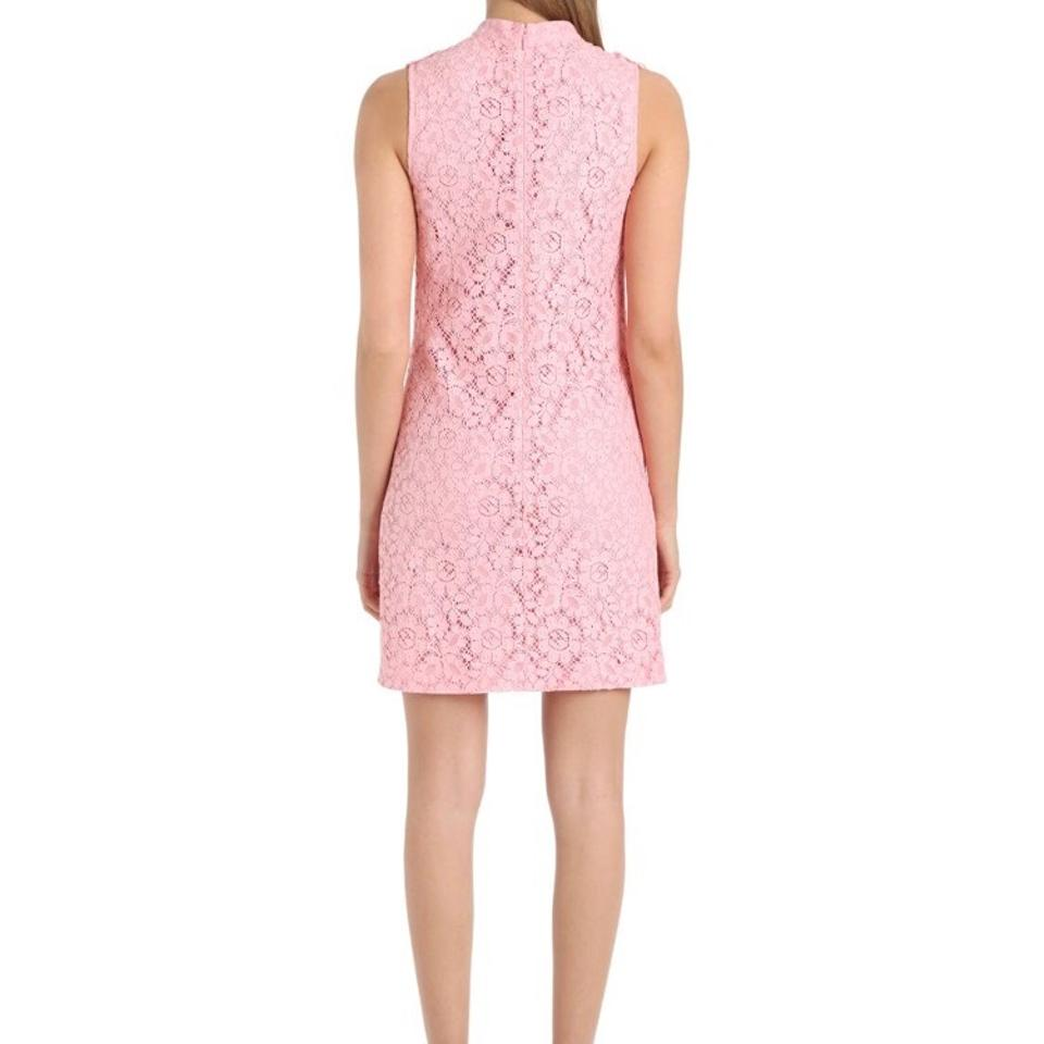 Gucci Pink Embroidered Rose Cluny Lace Ss17 Short Cocktail Dress ...