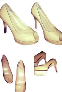 Cole Haan Nude Heel Pump Peep Toe Nude: Worn Once! Pumps