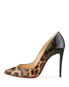 Christian Louboutin Pigalle Pigalle Follies Leopard Pigalle Degrade Pigalle Leopard-Black Pumps
