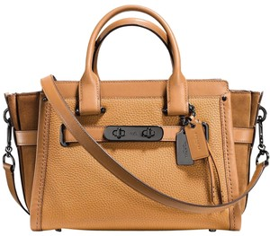 Coach Satchel in Light Saddle