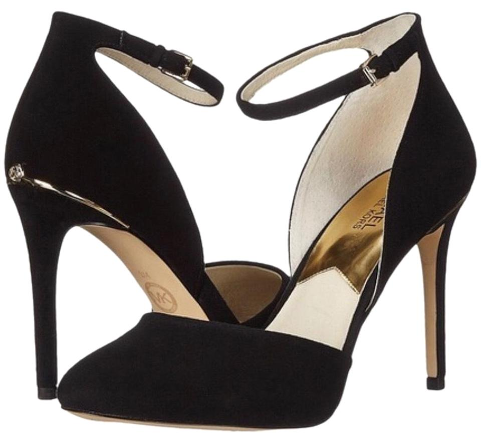 2a2d76b9ee5 MICHAEL Michael Kors Black Georgia Suede Ankle Strap 40f5gehs1s Pumps. Size   US 7.5 Regular ...