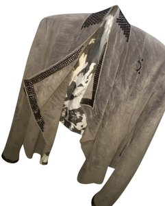 Jaded by Knight Los Angeles Dark grey Leather Jacket