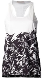Jason Wu Floral Flowy Racer-back Top Black/White