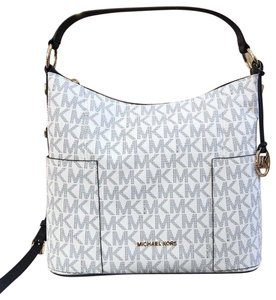 e530d29002a6 MICHAEL Michael Kors Anita Convertible Crossbody Strap Navy/White Shoulder  Bag