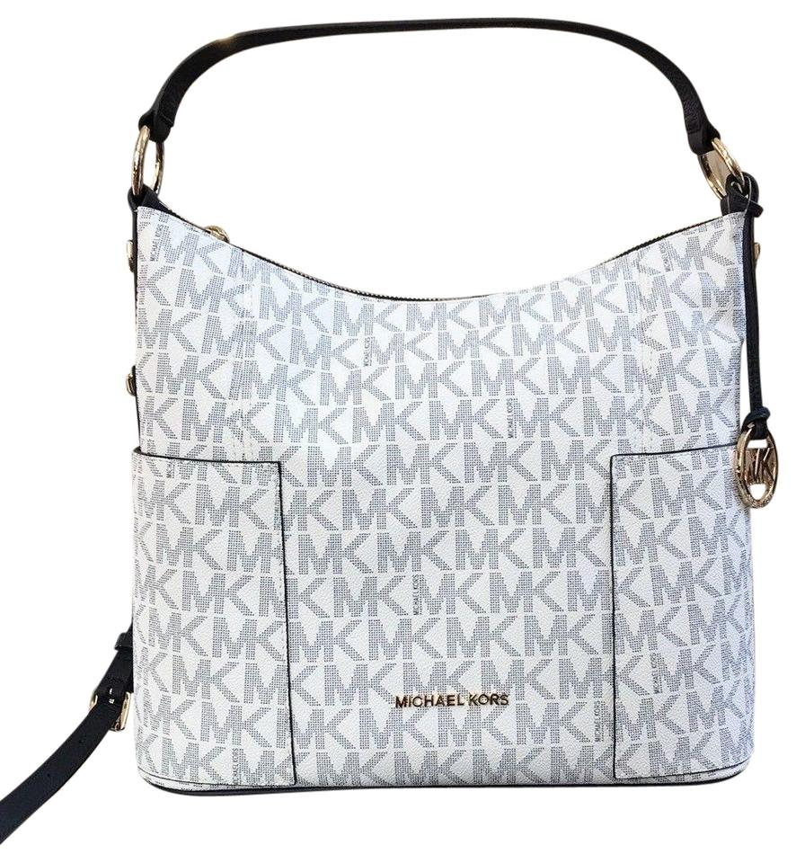 fc3204e77708 MICHAEL Michael Kors Anita Convertible Crossbody Strap Navy White Shoulder  Bag Image 0 ...