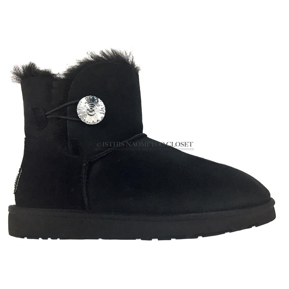 2cd96dd1d59 UGG Australia Black Uggpure Bailey Mini Bling Low Ankle Boots/Booties Size  US 10 Regular (M, B) 29% off retail