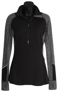 Lululemon funnel collar black gray half sip jacket