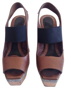 Marni Wooden Platform Heel Brown, black, grey Sandals