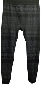 French Laundry Winter Flannel Black and grey snowflake pattern Leggings