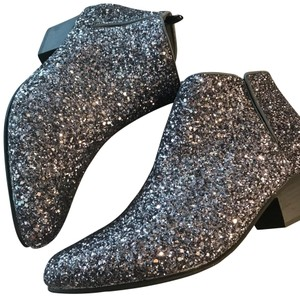 Sparkling Booties silver Mules