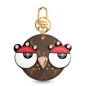Louis Vuitton NEW LIMITED 2018 Animal Faces Bag Charm Key Holder Monogram Canvas Crystals M68216
