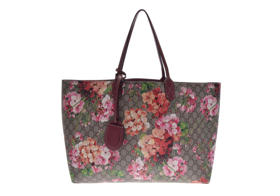 cdd955b44 Gucci European Monogram Limited Edition Rose Luxury Tote in Multicolor  Image 0 ...