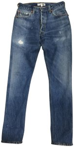 RE/DONE Distressed Denim Vintage Straight Leg Jeans-Distressed