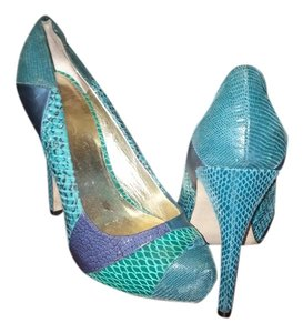 Aldo blue green multi Pumps