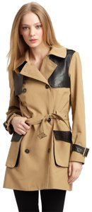 Rebecca Minkoff Lambskin Leather Trench Coat