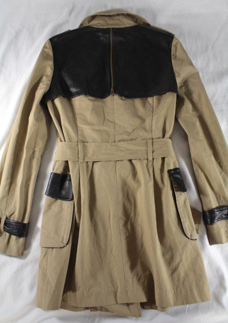 Rebecca Minkoff Lambskin Leather Trench Coat Image 11