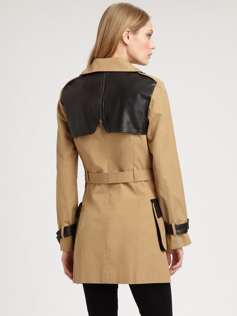 Rebecca Minkoff Lambskin Leather Trench Coat Image 2