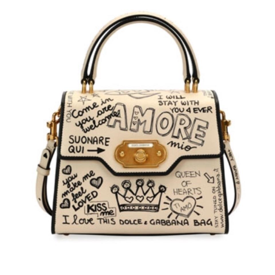 Dolce Gabbana Dolce   Gabbana Welcome Amore Graffiti Medium Handbag ... 1d9170c2b2cf9
