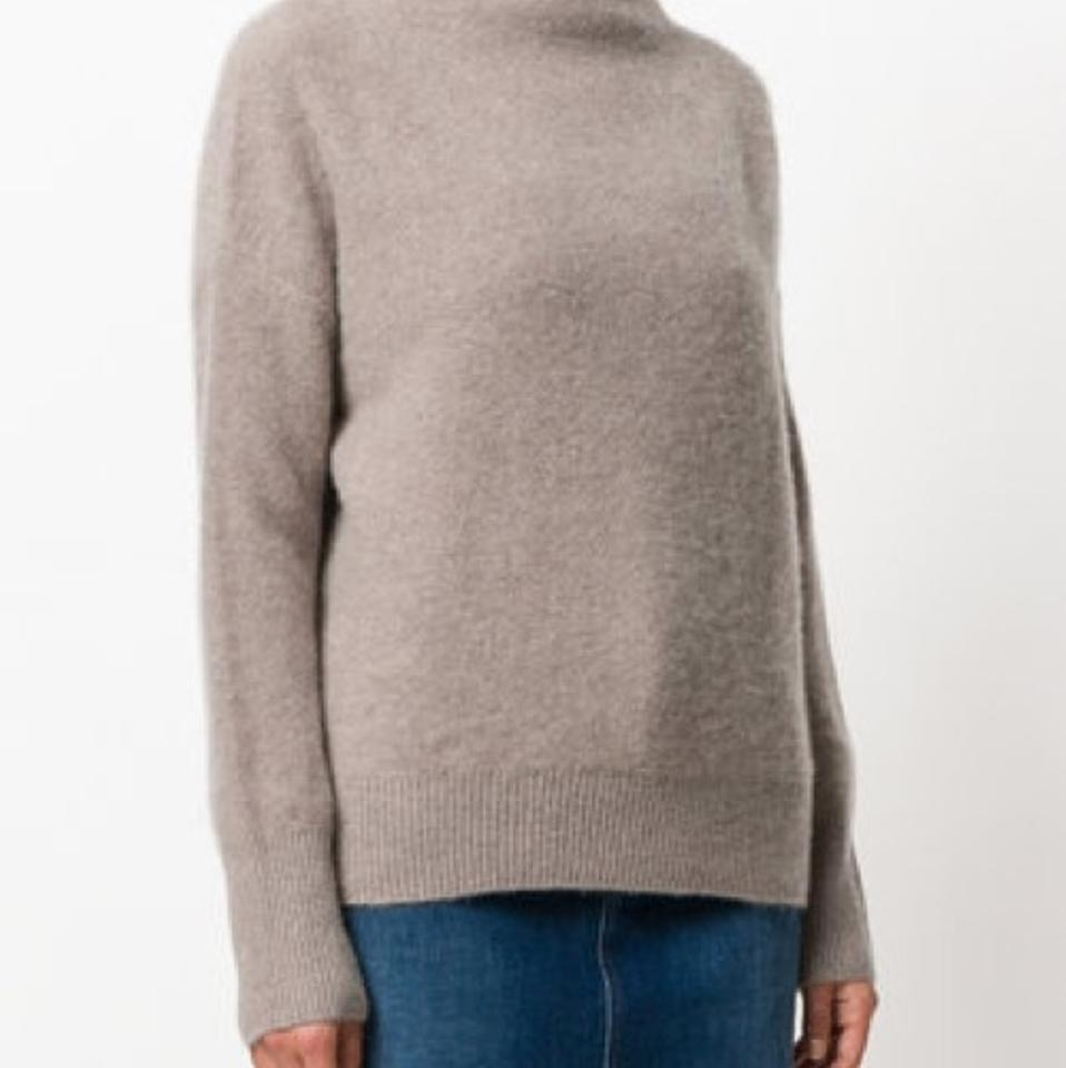 a8ad022d686ffb Vince Cashmere Funnel Neck Taupe Sweater - Tradesy