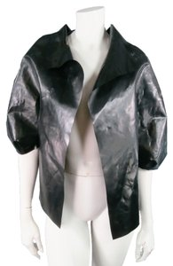 Marni Rubber Latex Vinyl Evening Black Jacket