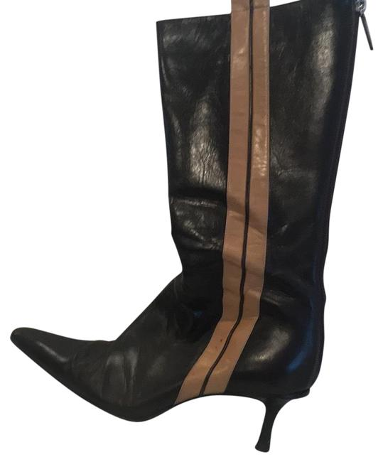 Item - Brown and Camel With Stripe Boots/Booties Size US 8.5 Regular (M, B)