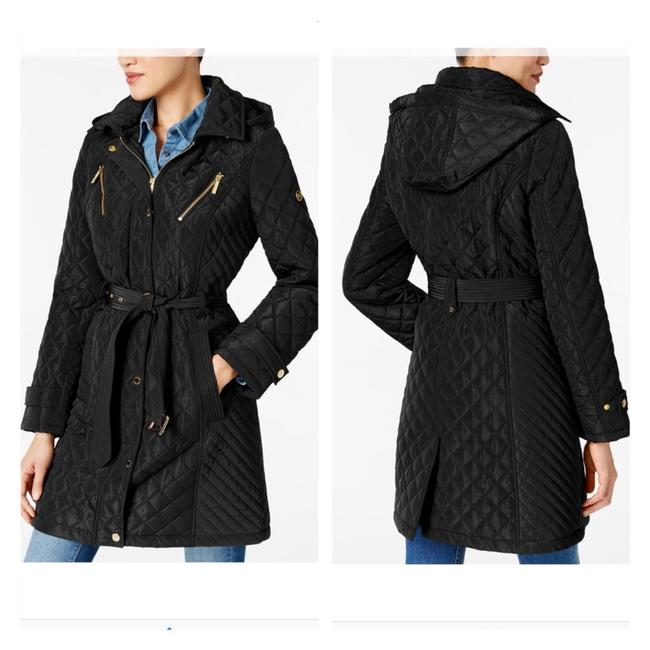 Item - Black Water Resistant Quited Coat Size Petite 4 (S)