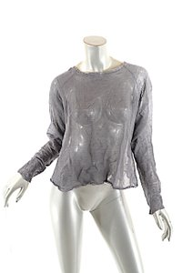 Cividini Steel Cotton Blend Metal Thread Sweater