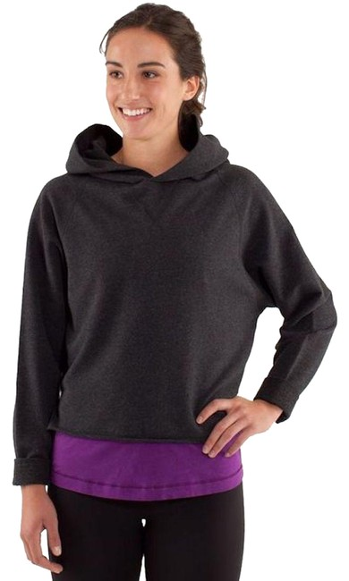 Item - Heathered Black (Charcoal Gray) Please Me Pullover Bnwt Activewear Outerwear Size 8 (M, 29, 30)