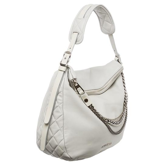 Jimmy Choo Biker Chain Pearl Boho Hobo Bag