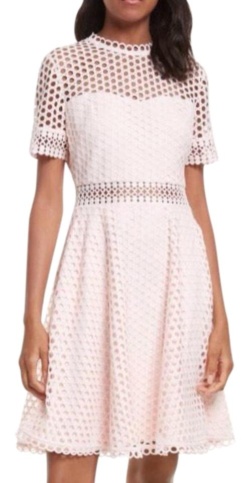 2ccd416bc0a4 Ted Baker Light Pink London Graycee Lace Skater Mid-length Cocktail ...