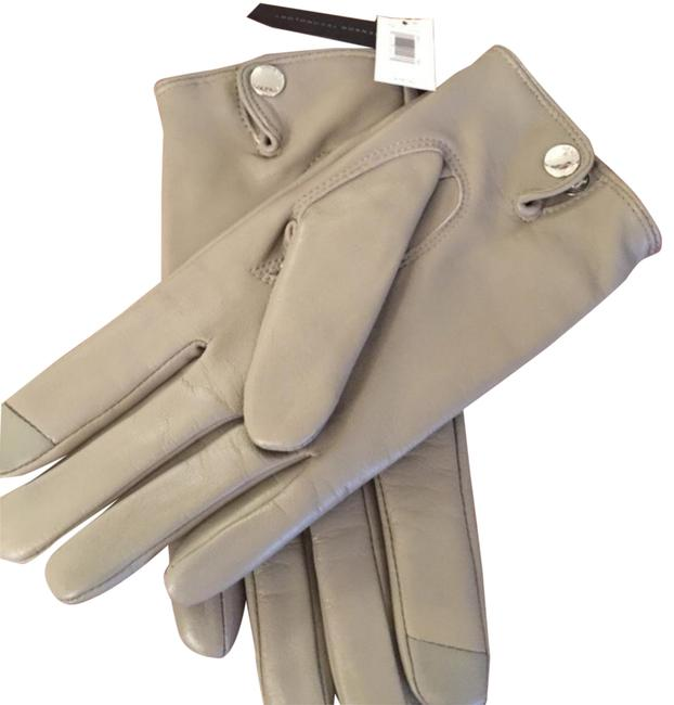 Item - Gray L Leather Gloves Size