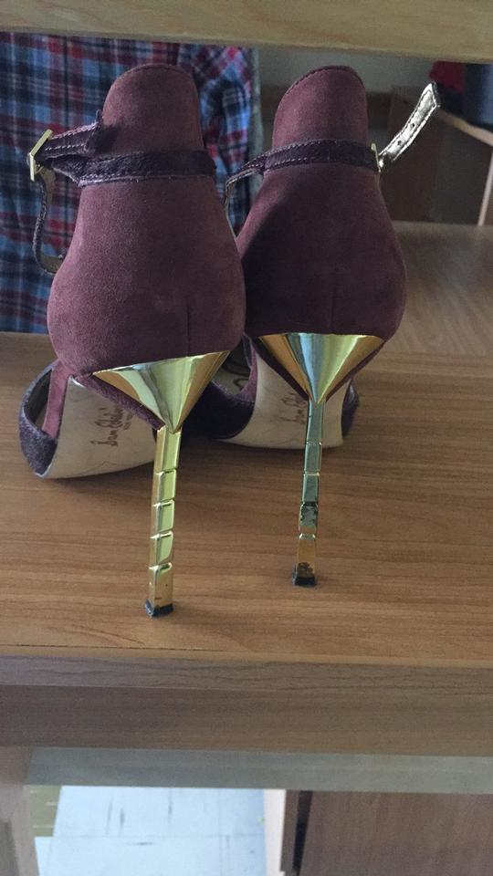 5a2af1a2f9599c Sam Edelman Purple Smithfield Suede and Real Fur T Strap In Pumps ...