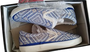 Pink & Pepper Woven Loafers Slip-on Flats blue white silver Athletic