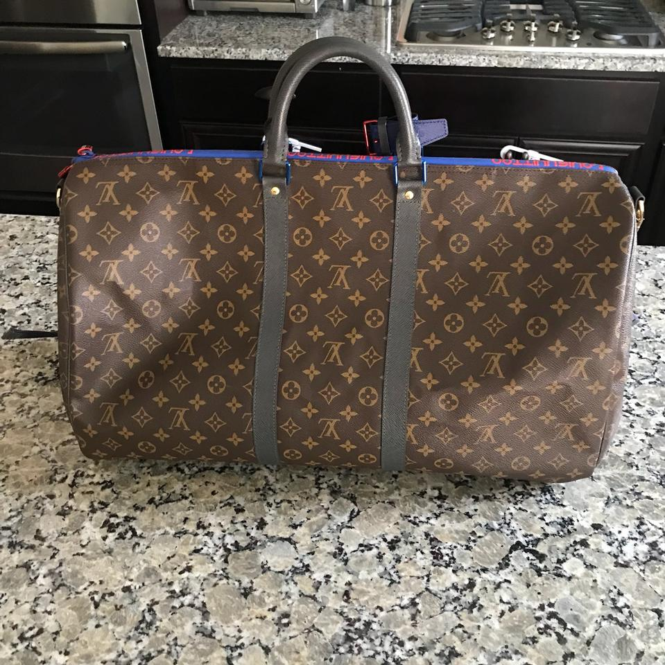 Louis Vuitton Keepall Bandouliere 55 Macassar Monogram Kim Jones ... a07e79a4e8af3