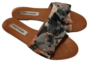 Steve Madden Multi / Ivory Pink Red Grey Blue Black Sandals