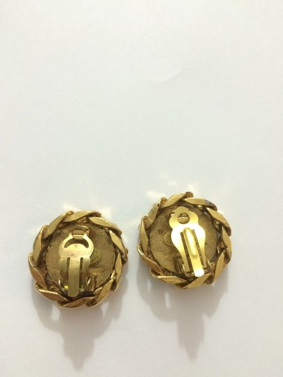 Chanel Chanel CC Chain Edge Gold With crystals Clip-on Clip on earrings