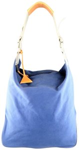 adidas by Raf Simons Weekend Travel Metallic Silver Shoulder Strap Tote in Blue