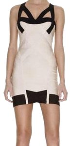 Hervé Leger Bodycon Party White Fitted Dress