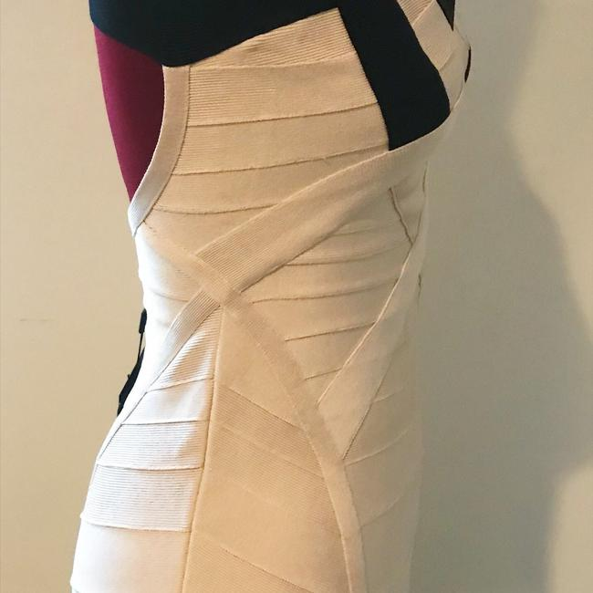Hervé Leger Bodycon Party White Fitted Dress Image 4