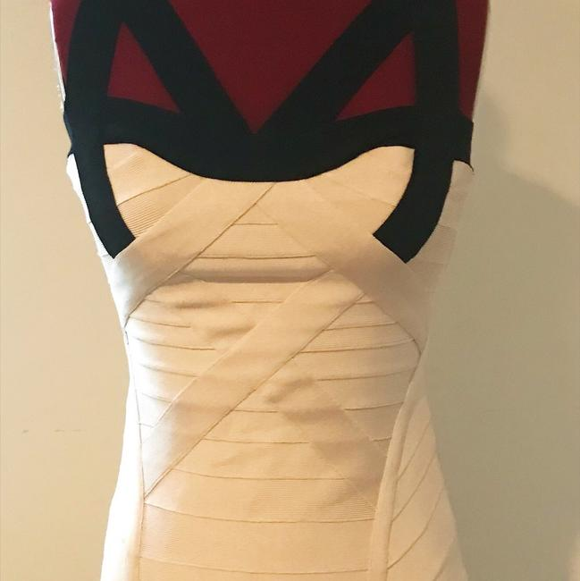 Hervé Leger Bodycon Party White Fitted Dress Image 8