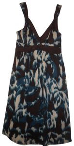 Studio Y short dress Multi-Color V-neck Padded Sleeveless Lined on Tradesy