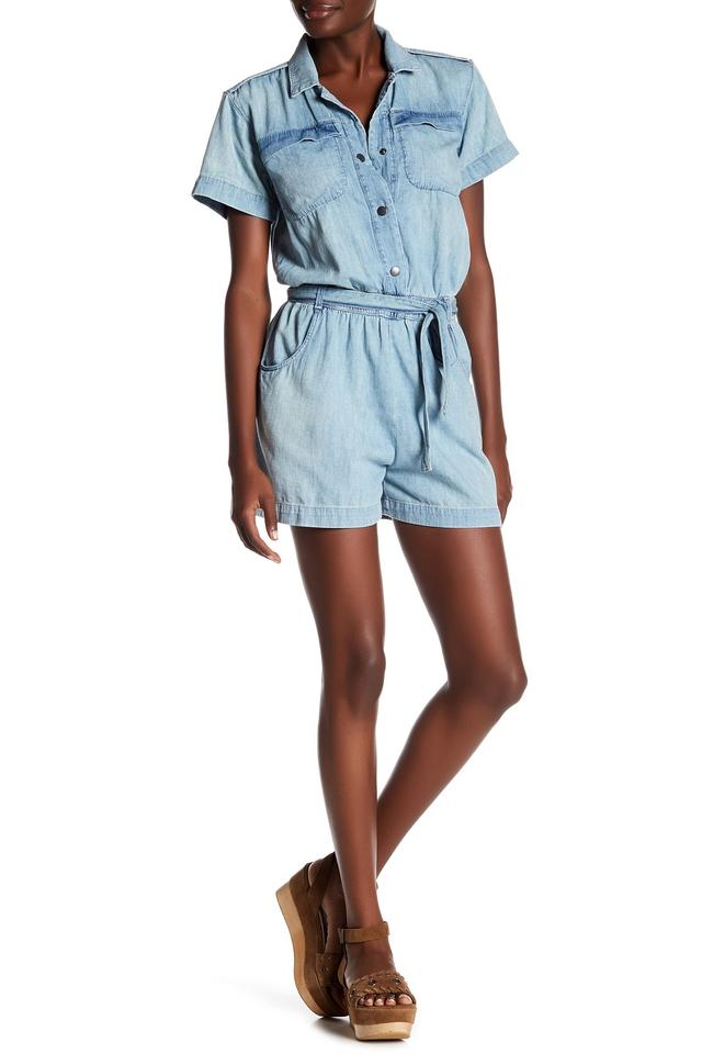 36af2314ca2e Current Elliott Blue Easy Denim Jumper In Nash Romper Jumpsuit - Tradesy